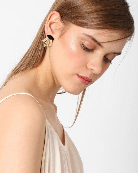 Rhinestone Stud Earrings By Ssoul ( Gold ) - 460029475001