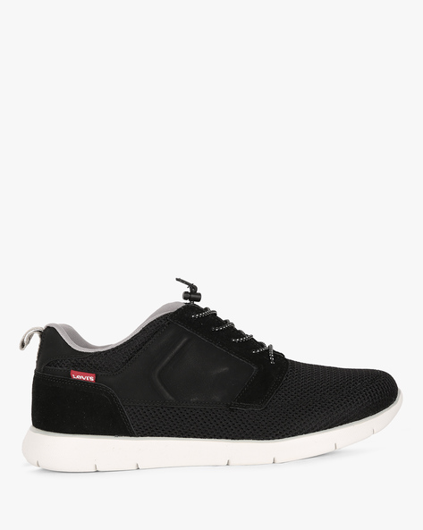 Black Tab Runner Casual Shoes By LEVIS ( Black )