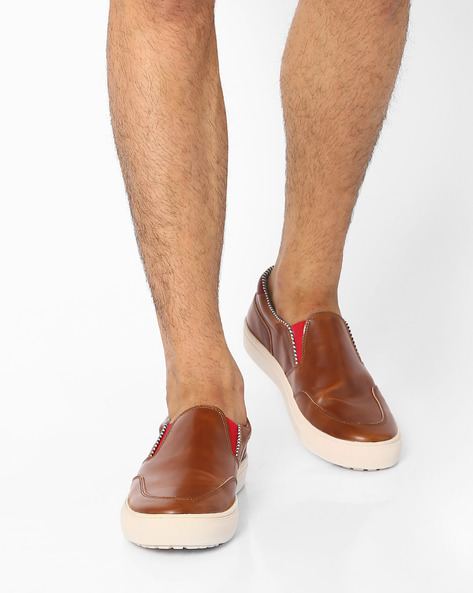 Alecto Casual Loafers By Knotty Derby ( Tan )