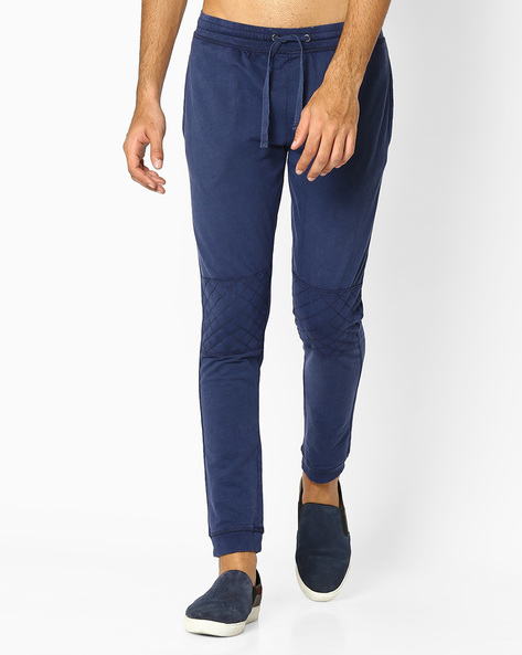 Flat-Front Joggers With Drawstring Fastening By DNM X ( Blue )