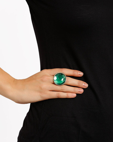 Stone-Studded Ring By Style Fiesta ( Antique )