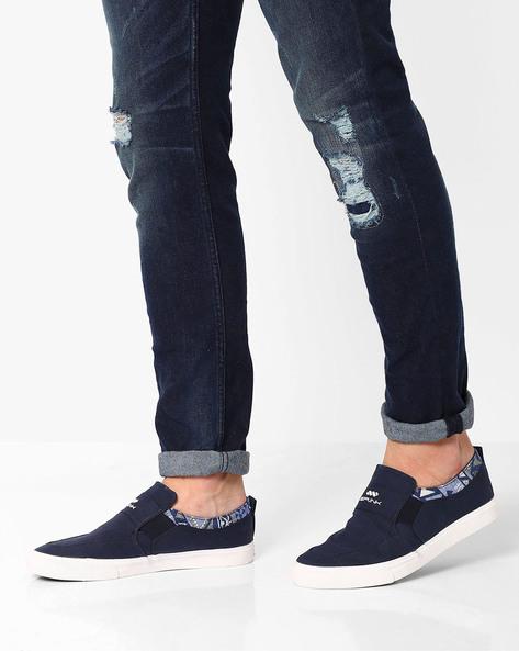 Slip-On Sneakers By Spunk ( Navy )