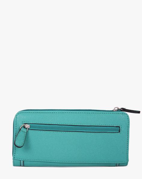 Textured Zip-Around Wallet By Lavie ( Teal )
