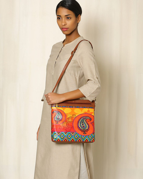 Digital Print Sling Bag By All Things Sundar ( Multi )