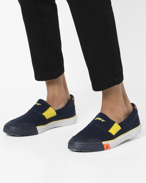 Low-Top Slip-On Shoes By SPARX ( Navyblue )