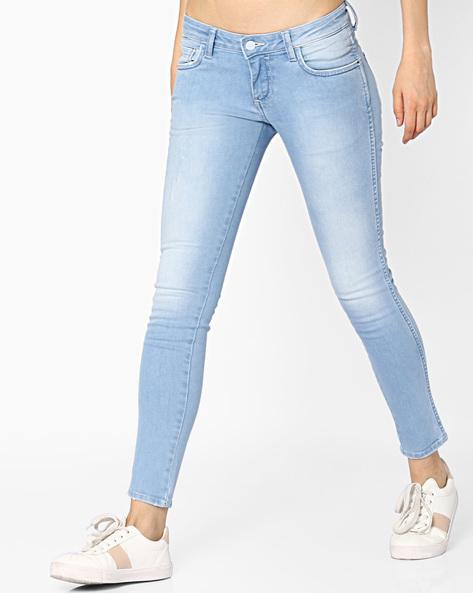 Slim Fit Light-Wash Jeans By WRANGLER ( Blue )