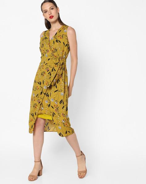Printed Sheath Dress By AJIO ( Green )