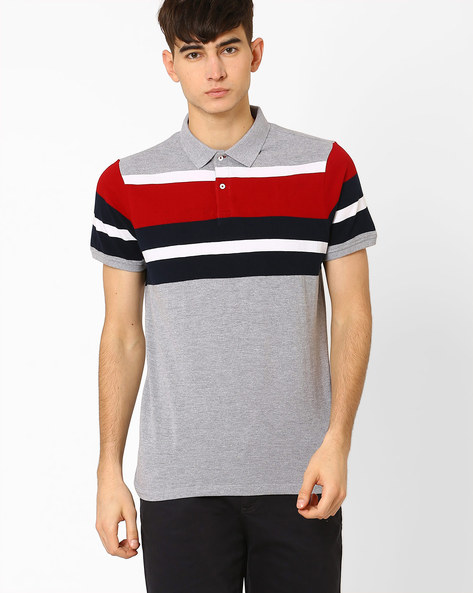 Slim Fit Polo T-shirt By BASICS ( Lightgrey )
