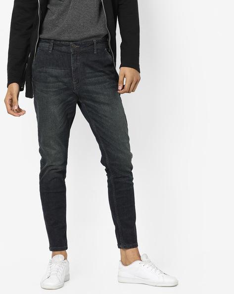 Mid-Wash Slim Fit Jeans By Locomotive ( Grey )