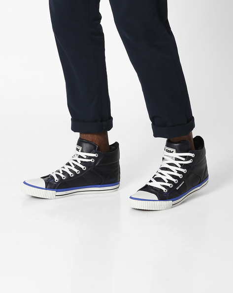 Roco Lace-Up Casual Shoes By British Knights ( Black )