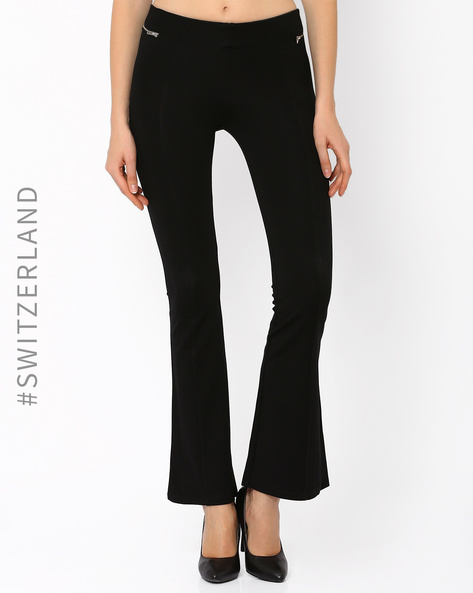 Flared Leggings With Zip Pockets By TALLY WEiJL ( Black )