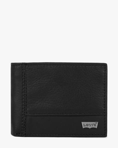 Faux Leather Bi-Fold Wallet By LEVIS ( Black )