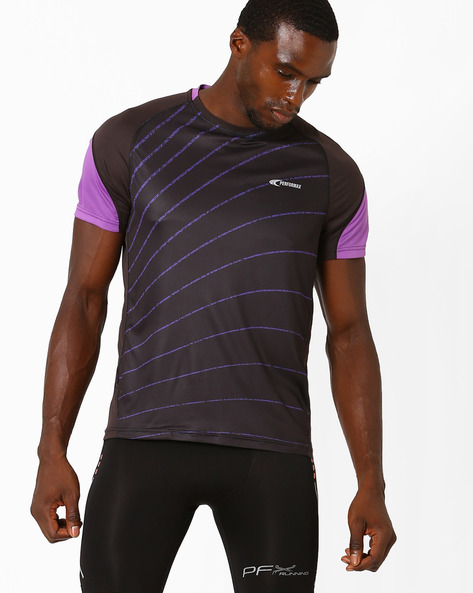 Reflective Running T-shirt With Quick Dry By PERFORMAX ( Purple )