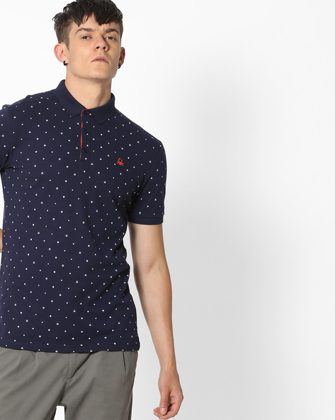 Polka-Dot Print Polo T-Shirt By UNITED COLORS OF BENETTON ( Multi )