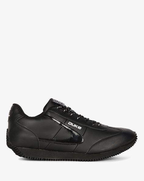 Lace-Up Sports Shoes By DUKE ( Black )