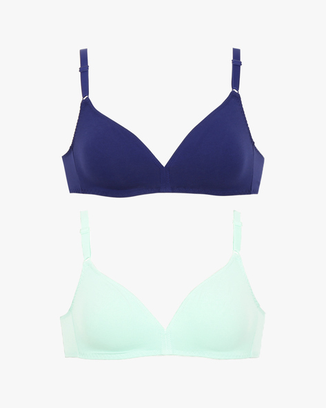 Pack Of 2 Cotton Full-Coverage Bras By TRIUMPH ( Blueblack )
