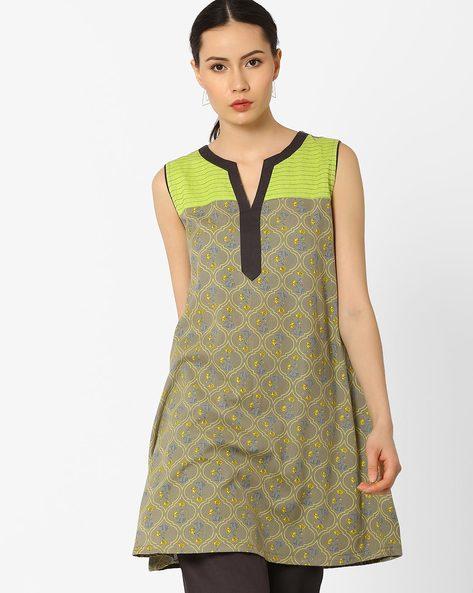 Printed Sleeveless Tunic By AJIO ( Multi )