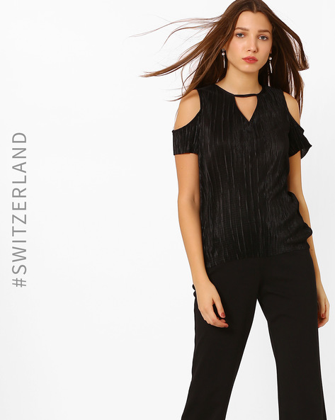 Cold-Shoulder Top With Cutout Detail By TALLY WEiJL ( Black )