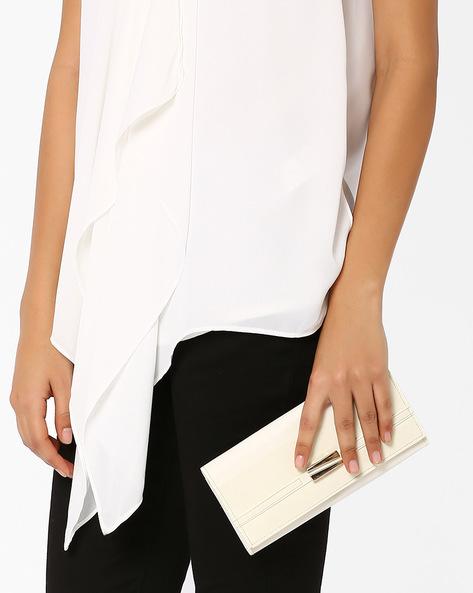 Faux Leather Wallet By Tessa Moda ( White )