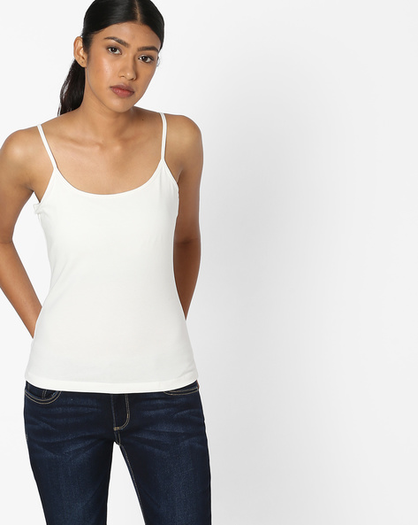 Camisole Top With Adjustable Straps By DNMX ( Offwhite )