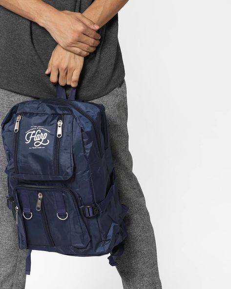 Tokyo Backpack With Signature Branding By Harp ( Blue )