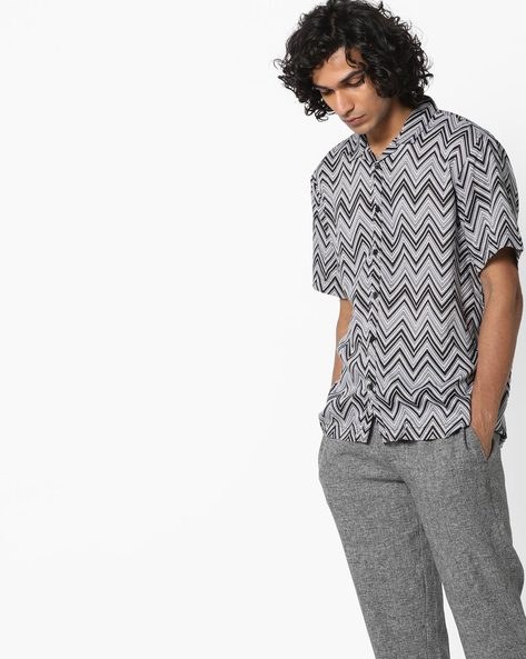 Printed Shirt With Short Sleeves By ADAMO LONDON ( Multi )