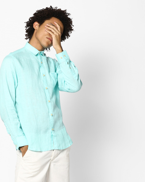 Classic Shirt With Patch Pocket By Pepe Jeans ( Aqua )