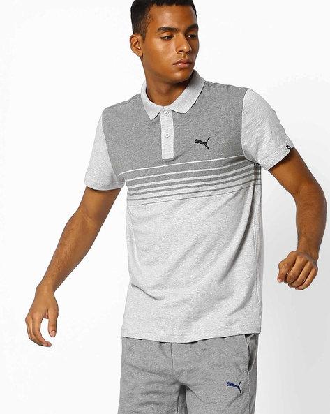 DryCELL Colourblock Polo T-shirt By Puma ( Grey )