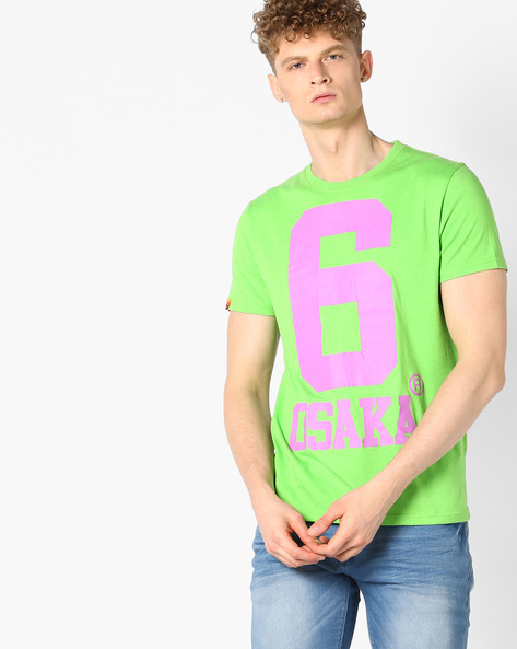 Numerical Print Crew-Neck T-shirt By SUPERDRY ( Xkb )