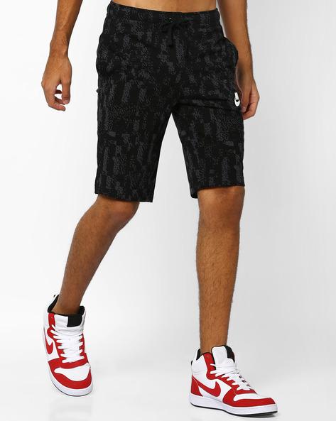 Printed Shorts With Drawstring Waist By NIKE ( Black )