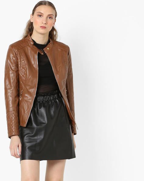 Jacket With Zipped Pockets By The Indian Garage Co ( Brown )