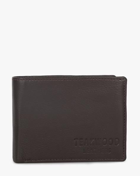 Leather Bi-Fold Wallet By TEAKWOOD LEATHERS ( Brown ) - 460173786001