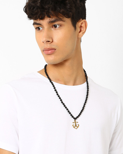 Anchor Pendant Neckpiece By Alto Vida ( Black ) - 460030549001