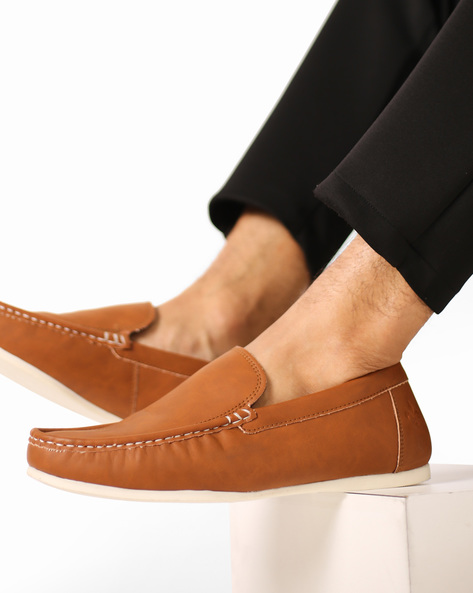 Low-Top Casual Slip-Ons By Bond Street By Red Tape ( Tan )