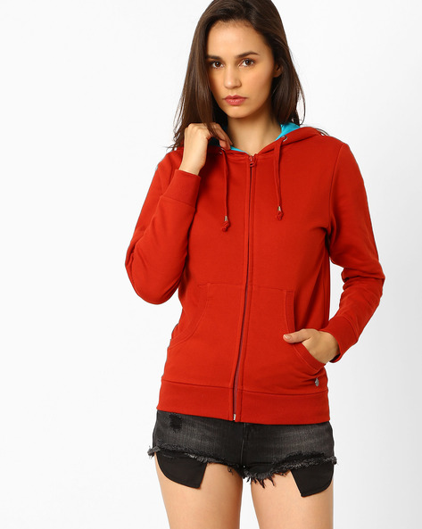 Hooded Fleece Sweatshirt By WRANGLER ( Red )