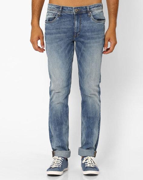 Low-Rise Skinny Fit Jeans By Jack & Jones ( Blue )
