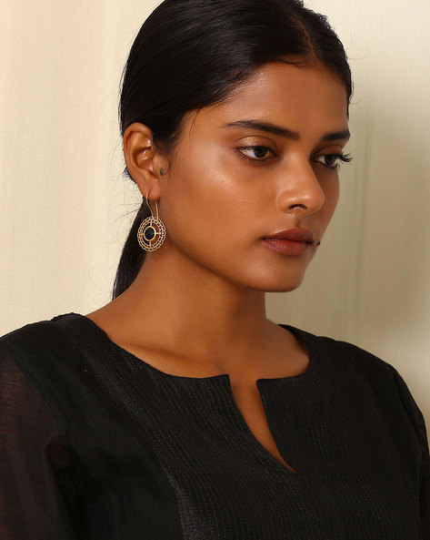 Gold-Plated Brass Drop-Earring By Indie Picks ( Multi ) - 460045171001