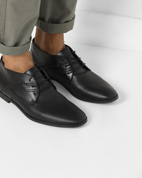 Derby Shoes With Almond Toe By Bond Street By Red Tape ( Black )