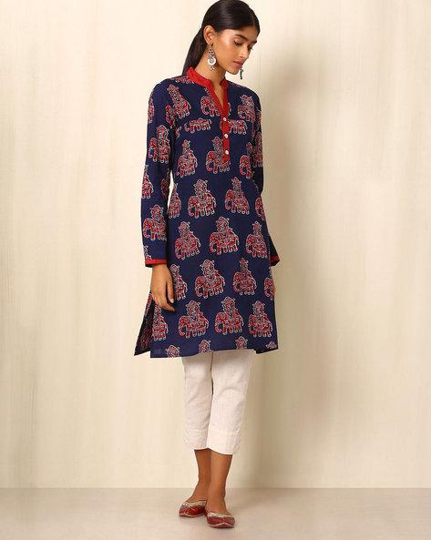 Block Print Cotton Kurta By Ek Taara ( Multi )