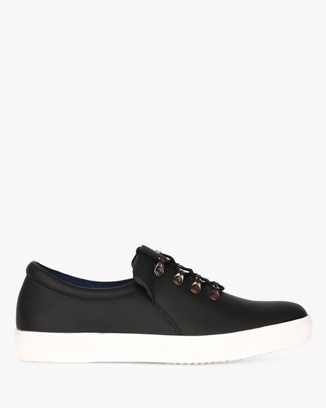Slip-On Sneakers With Metal Loops By CLOZZ ( Black )
