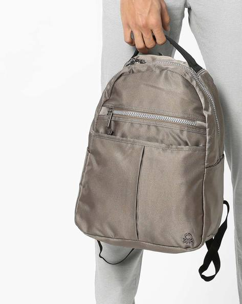 Panelled Laptop Backpack By UNITED COLORS OF BENETTON ( Grey ) - 460160372002