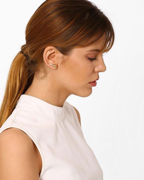 Hoop & Studs Earrings Set By Pipa Bella ( Gold )