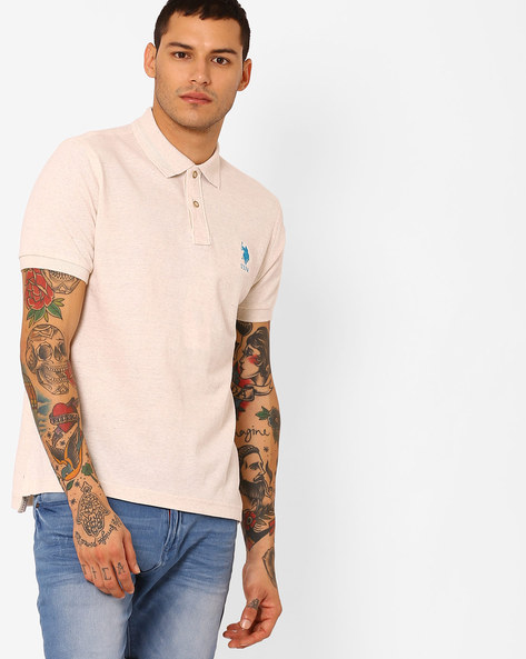 Regular Fit Polo T-shirt By US POLO ( Assorted )