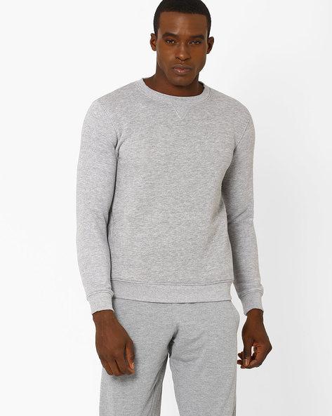 Regular Fit Sweatshirt With Ribbed Hems By PROLINE ( Greymelange )