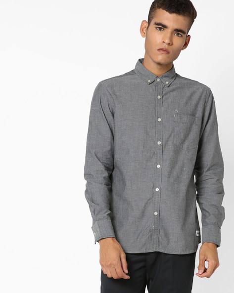 Shirt With Button-Down Collar By FLYING MACHINE ( Assorted )