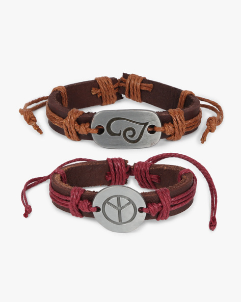 Pack Of 2 Bracelets By ALPHA MAN ( Brown )