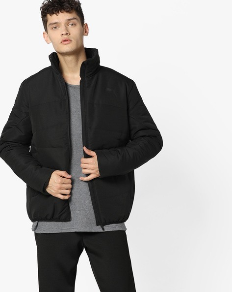 Front-Zip Padded Jacket By Puma ( Black ) - 460168570001