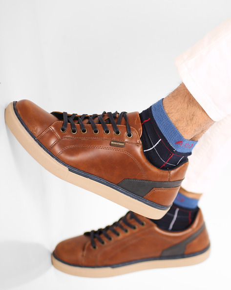 Lace-Up Casual Shoes By Bond Street By Red Tape ( Tan )
