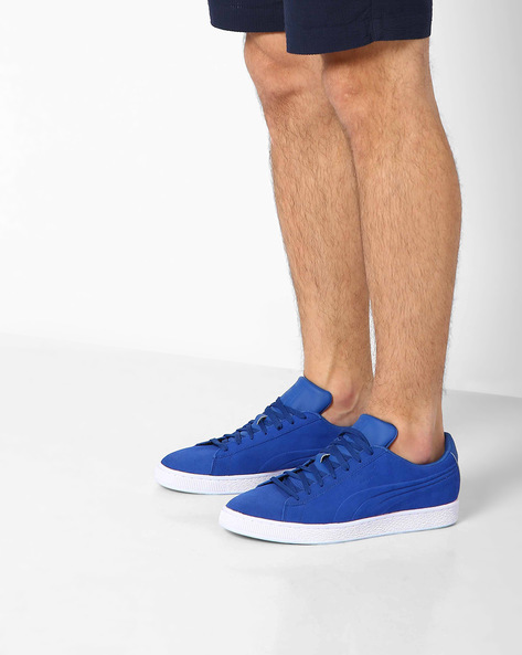 Suede Classic Embossed Sneakers By Puma ( Blue )