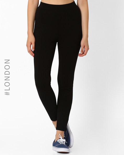 High-Rise Treggings By Marks & Spencer ( Black )